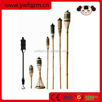 bamboo tiki torches for garden lighting