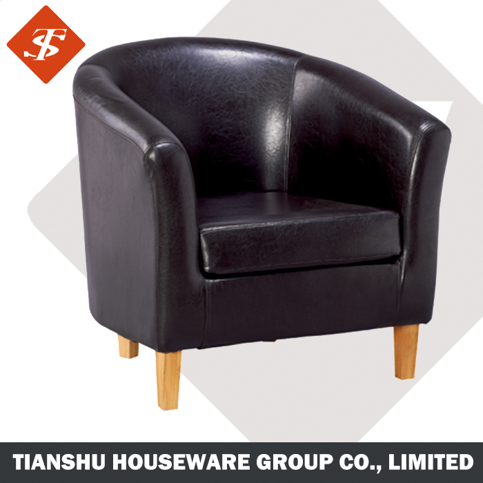 tub chair home furniture, Recliner living room chairs accent chair leather cover, wooden frame tub chair