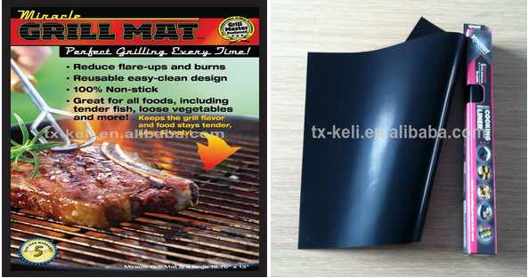 100% Non-stick Grilling Mats - Premium Quality, Food-safe, FDA Approved, No Mess, Easy Clean up, Reusable Barbeque Grill Mats
