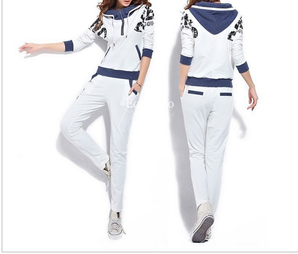 Fashion New Women Female Tracksuit Sportswear Hoody Set Jacket Pants Joggings Sweatsuit Sports Suit