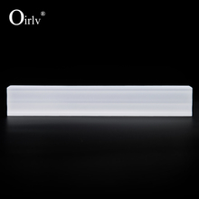 Oirlv Stylish Simple Design Shop Counter Jewelry Display Frosted White Acrylic Loose Diamond Gemstone Holder