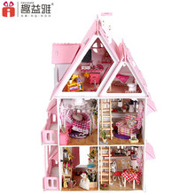 2018 New arrival wooden toys diy house doll mini kit