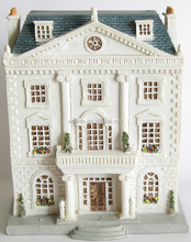 polyresin miniatured school models,scaled historical building