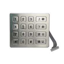 custom numeric silicone usb keypad with high temperature PC keycap