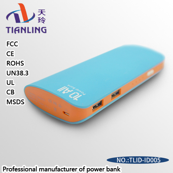 power bank dual connector for iphone and androi printing logo
