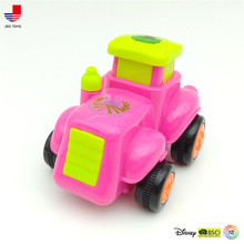 Plastic Type Mini Cartoon Car Toys Racing Car 3D Construction High Speed Car