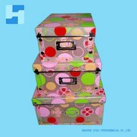 new elegant flower pattern plastic folding storage boxes