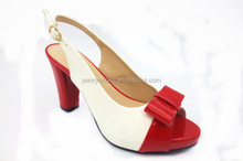 latest new design summer high heel sandals mix color summer shoes