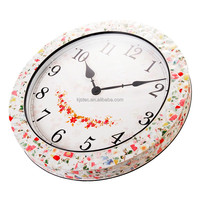 Retro Wall Resin Clock Sweep Movement Vintage European Watch