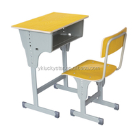 Wooden Single School Desk and Chair/School Furniture/table and chair