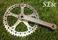 Silver Alloy CNC 48T 165mm Bicycle freewheel Crank