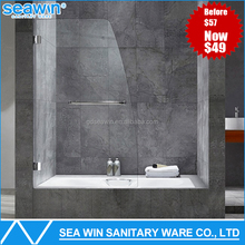 Walk in hinged style shower door bath screen