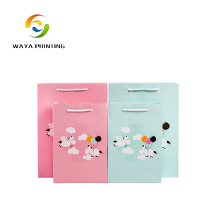 Trade Assurance Colorful custom Animals logo baby carrying gift paper bag