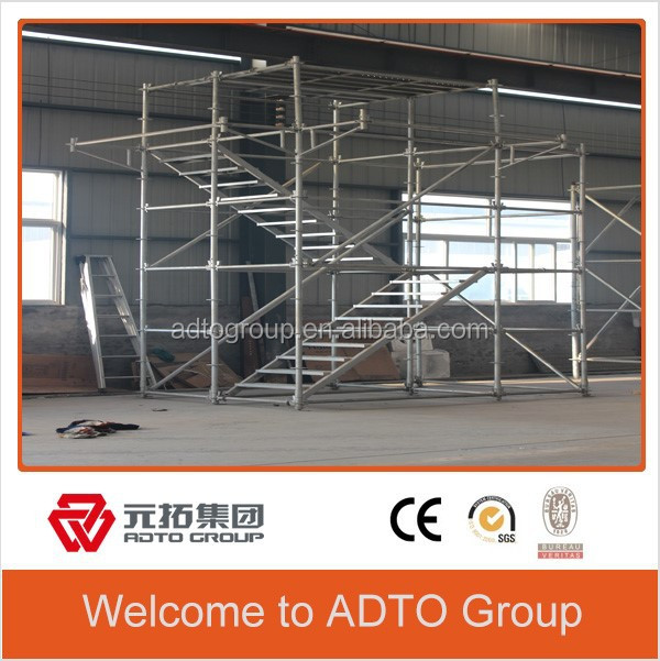 USA Type of System Scaffolding Ring Lock Stair Case YP-SL for Construction Building Materials