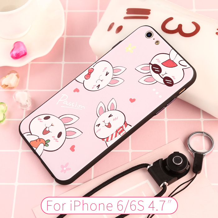 CITYCASE Bears and rabbits Mobile lphone Case Back Phone Cover for iphone 6 6s Plus Accessories