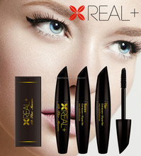 Vegetable carbon black REAL PLUS 3D fiber mascara/natural, high quality