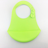Food Grade Soft Baby Bib Silicone Material , BPA Free Waterproof Silicone Baby Bib, Customize Cartoon Printing