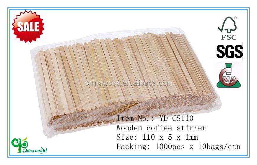 Wooden tea stirrer