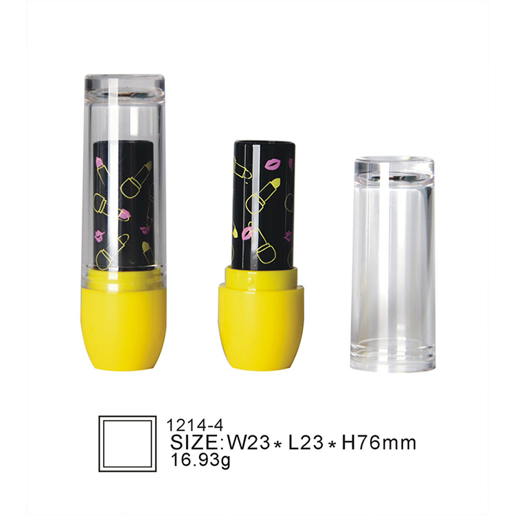 Oubolai brand 1214-4 wholesale printing Newest Hot Selling lip balm tube containers lipstick tube labels