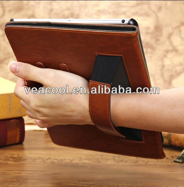 "Retro Old Canvas Leather Flip Cover Case Skin For Apple Ipad MINI 7""tablet case"