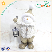 Large snowman with Lantern snowman with jumper outdoor snowman T-lite holder