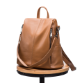 High Quality Genuine Leather Backpack Bag Theftproof Two Use Backpack For woman