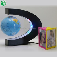 High end gift C shape base 3 inch floating globe delicate gift items low cost