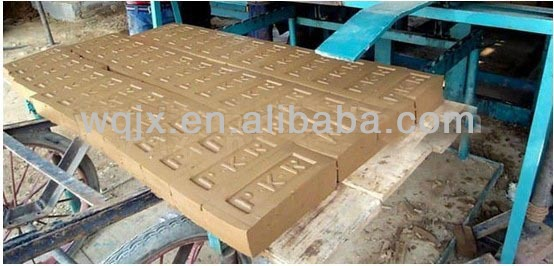 automatic clay brick making equipments with logo print on the brick