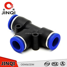 All Types Of Excellent Material Pneumatic t connector pipe