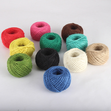 100m 2mm Burlap Natural Jute Twine Rope Cord String Colorful Craft Jute Rope for party home direction