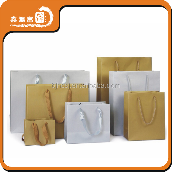 High quality wholesale custom shopping kraft eco paper bag
