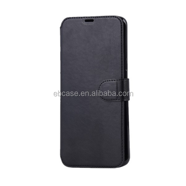 Hot sell smart leather wallet mobile phone case for samsung s8 plus