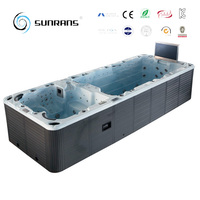 Top qualtity large size 6 person swimming pool whirlpool SPA freestanding pool swimming spa