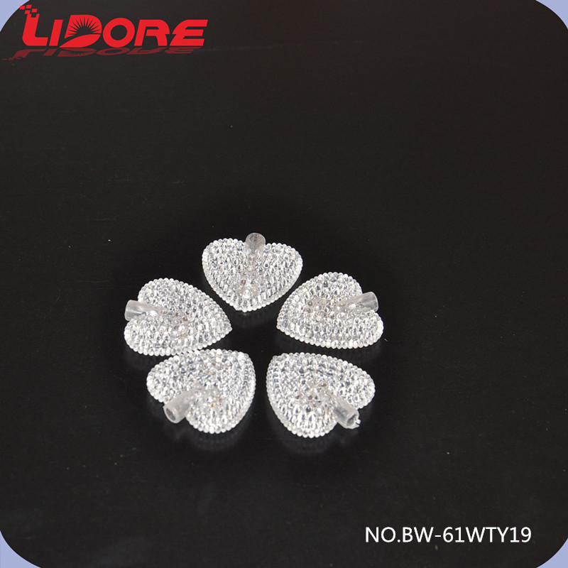LIDORE Party Decorations Acrylic Heart Shaped Flashing LED Lights