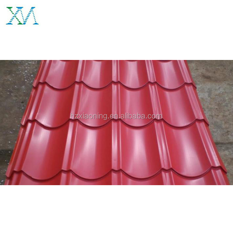 Archaized steel Chinese style color coated metal roof tile