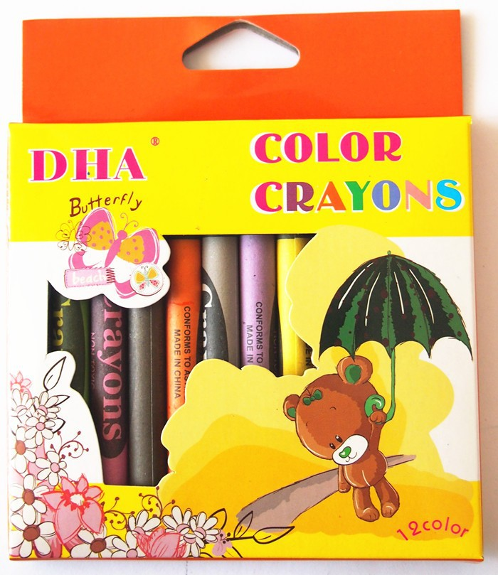 high quality non-toxic 12 colors oil pastel wax crayons safety for kids-DH0112C