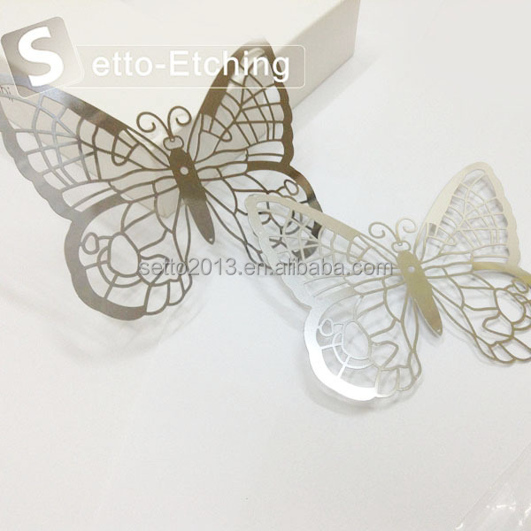 Wholesale chemical etching butterfly metal craft for home decoration