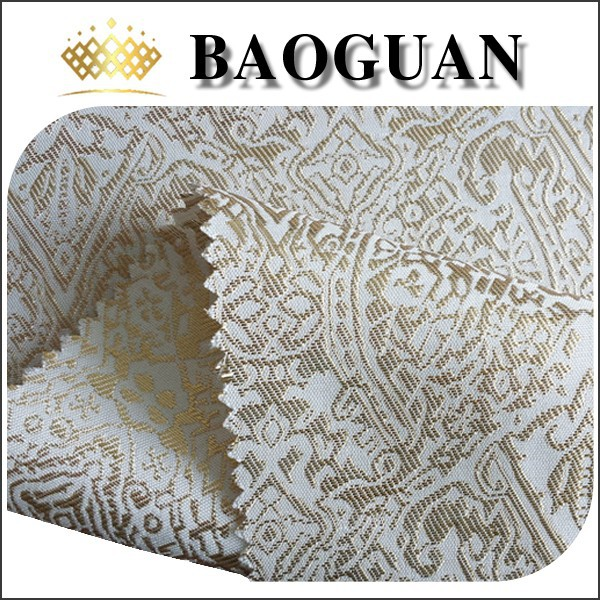 polyester jacquard fabric for dress embroidery desgins/woven jacuqard fabric