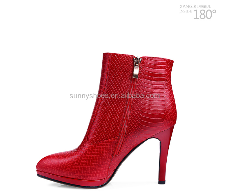 hot sales 2017 ladies women ankle strap genuine leather shoes winter boots for women