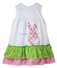 cotton crown embroidery lace green dress children long frocks designs
