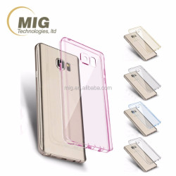 Colorful super thin transparent plastic phone case for samsung s7 edge / s7