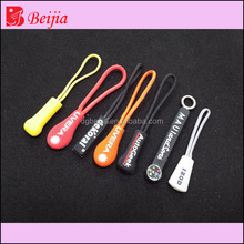wholesale cheap soft silicone zippers pulls fix a zipper slider