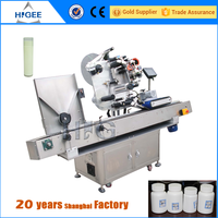 automatic small glass bottle labeling machine with eyebrow pencil
