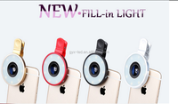 Universal Clip 6in 1 Fisheye camera lens,Wide Angle And Macro Lens Led Flash Light Fisheye Lens Smartphone