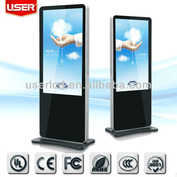 iphone design floor stand lcd digital signage kiosk 55""