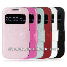 View Leather Case Bag for Samsung Galaxy S4 Mini i9190 i9195