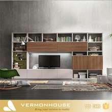 Vermonhouse Custom Home Used High Gloss MDF Wooden LED TV Stand Furniture