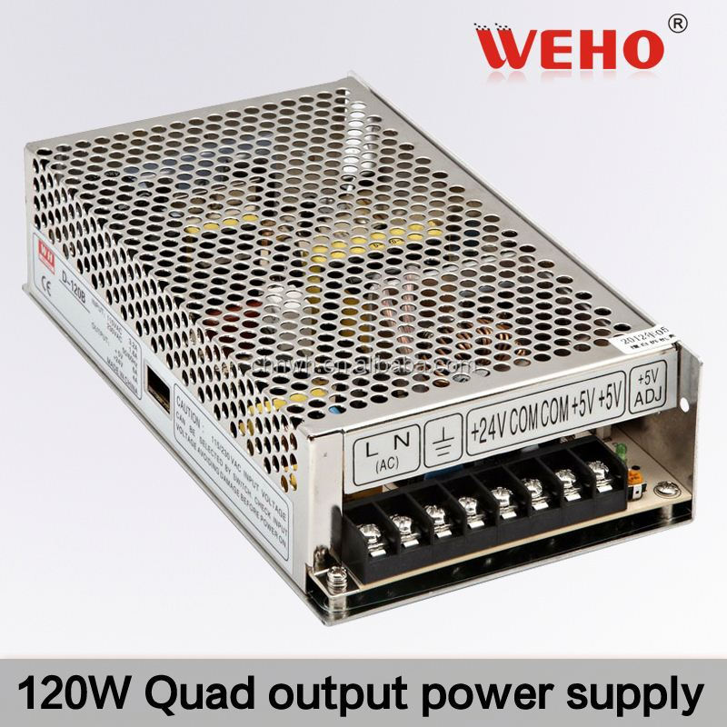 CE approved 120W Quad output schematic switching power supply