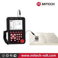Mitech Hand-held Ultrasonic Flaw Detector 350B with communication interface connecting instrument and computer
