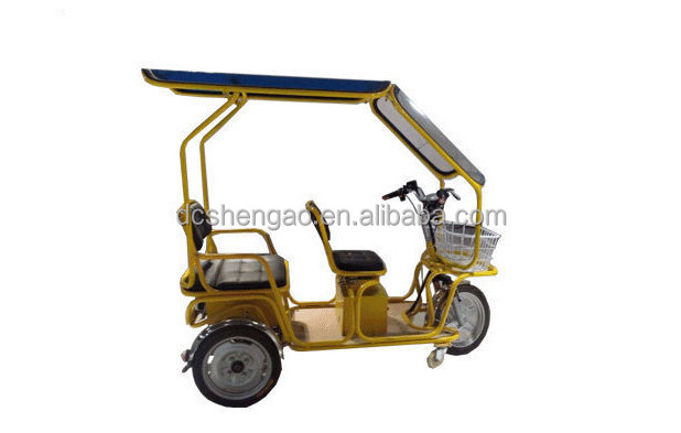 Eco-friendly three wheel e rickshaw for India passengers